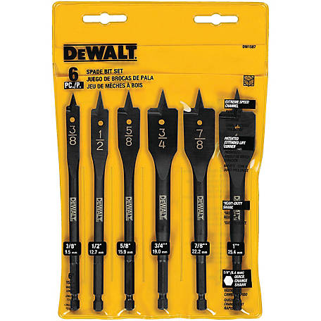 DeWALT 6 pc. Wood Boring Set, DW1587