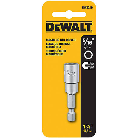 DeWALT 5/16 x 1-7/8 Magnetic Socket Driver with 1/4 in. Hex Drive
