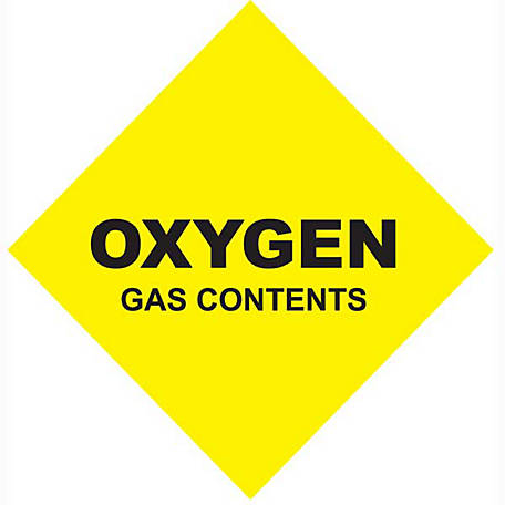 Thoroughbred Oxygen Gas Contents, #5 Size, 251 cu. ft.