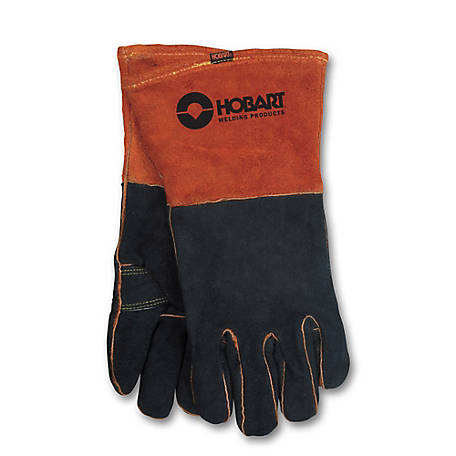 Hobart Deluxe Rust/Black Welding Gloves, XL, 770439