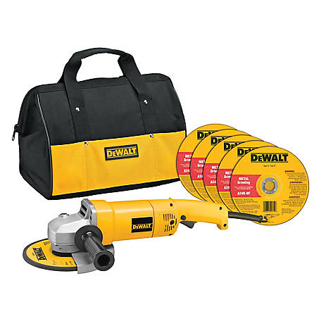 DeWALT HD 7 in. Angle Grinder with Bag and Wheels