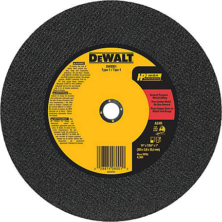 DeWALT General Purpose Cutting Wheel, 14 in. x 7/64 in. x 1 in.