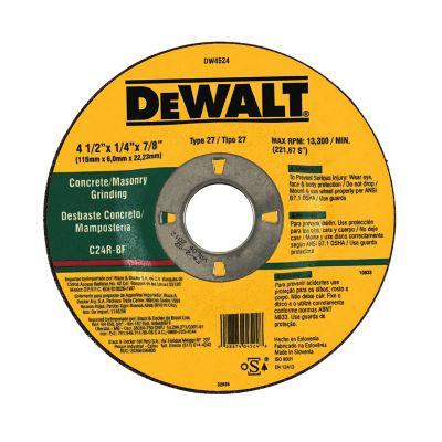 DeWALT 4-1/2 in. x 1/4 in. x 7/8 in. TYPE 27 Masonry High Performance Grinding Wheel