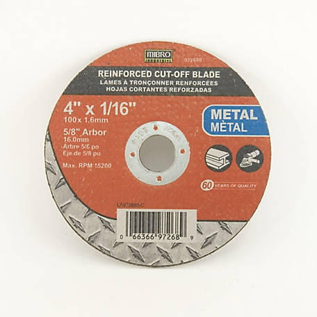 Mibro 4 in. x 1/16 in. x 5/8 in. Metal Cut-Off Abrasive Wheel