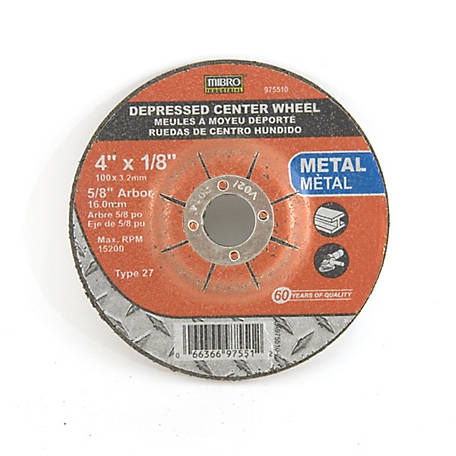 Mibro 4 in. x 1/8 in. x 5/8 in. Metal Cut-Off Abrasive Wheel