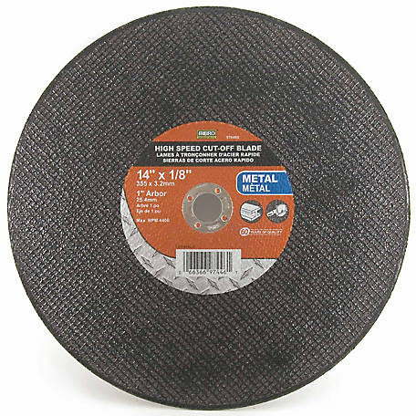 Mibro 14 in. x 1/8 in. x 1 in. Reinforced Metal Cut-Off Abrasive Wheel