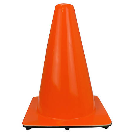 Stanley Traffic Cone, 12 in., Orange, CONE-PVC-12