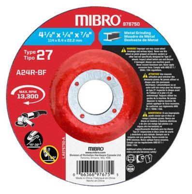 Mibro 4-1/2 in. x 1/4 in. x 7/8 in. Depressed Center Wheel; Metal