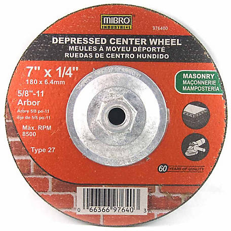 Mibro 7 in. x 1/4 in. x 5/8 in. Depressed Center Cutting Wheel, Masonry