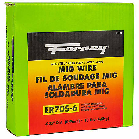 Forney Solid Mild Steel MIG Wire, .035 Diameter, 10 lb. Spool