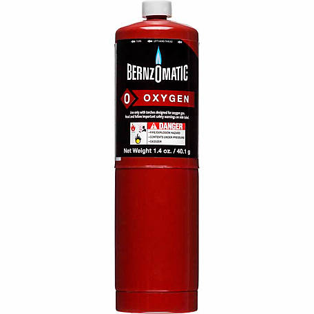 BernzOmatic Oxygen Torch Cylinder, 1.4 oz.