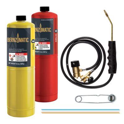 Gas Welding Torch Acetylene Propane Jet Brazing Air Conditioning Copper Aluminum