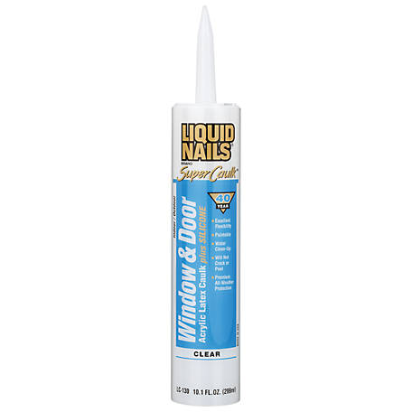 Liquid Nails Window & Door Caulk, Clear