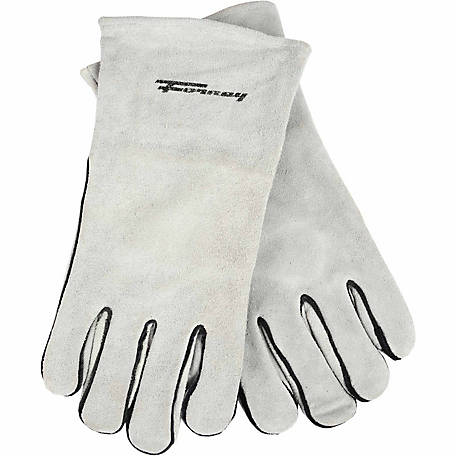 Forney Welding Glove, Gray, Lined Leather