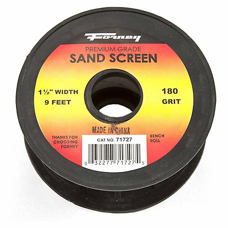 Forney Sand Screen, 1-1/2 in. x 9 ft., 180 Grit