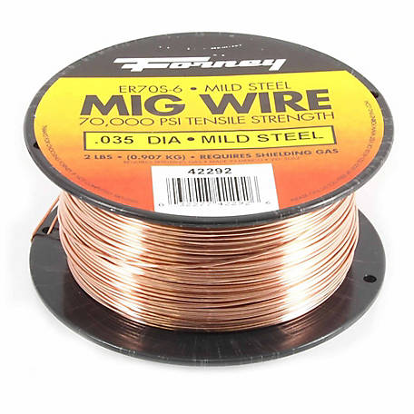 Forney Solid Mild Steel MIG Wire, .035 Diameter, 2 lb. Spool
