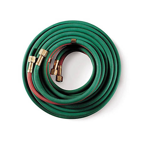 Hobart Oxy-Acetylene Hose, Grade R, B Fitting, 1/4 in. Diameter., 25 ft. L, 770132