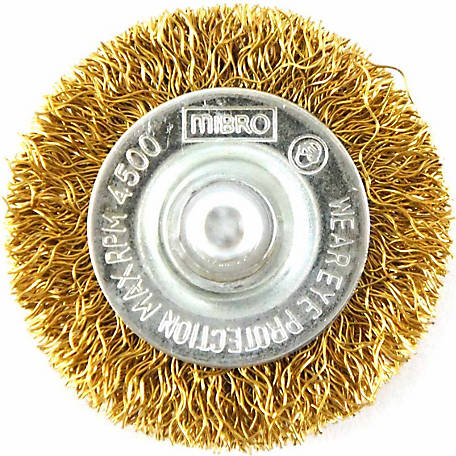Mibro 2 in. Wire Wheel Brush, Coarse