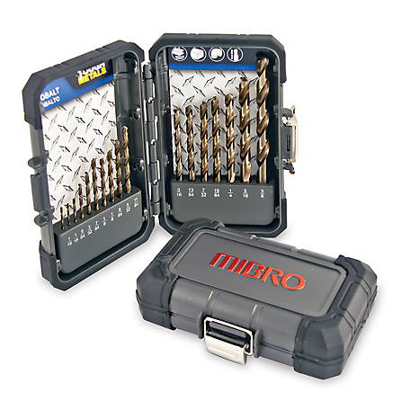 Mibro 17-Piece Cobalt Steel Drill Bit Set