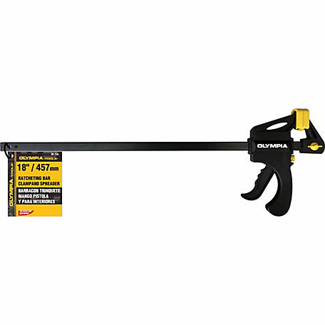 Olympia Tools Ratcheting Bar Clamp & Spreader, 18 in.