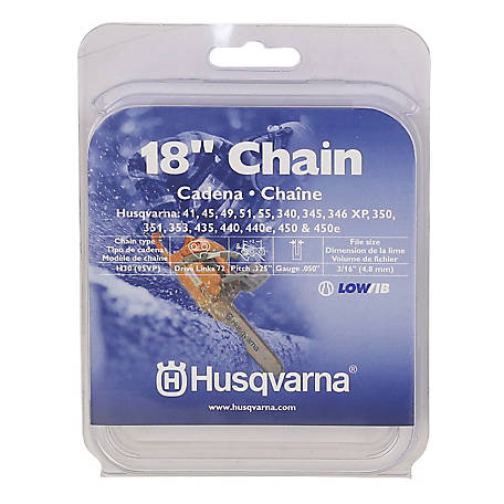 Husqvarna 18 in replacement chain at tractor supply co greentooth Choice Image