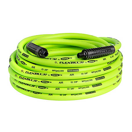 Flexzilla Air Hose, 3/8 in. x 50 ft., 1/4 in. MNPT Fittings, HFZ3850YW2
