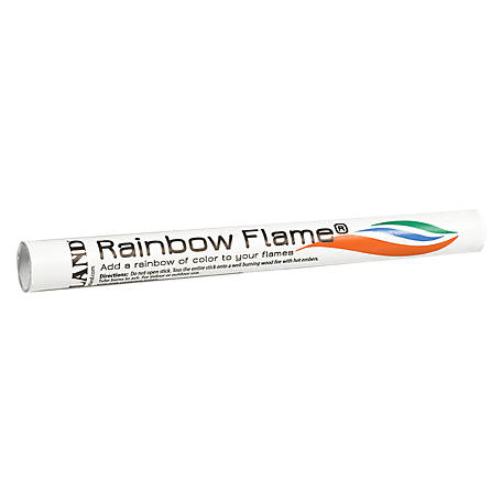 Rutland Rainbow Flame Crystals Long Toss-In Stick, 715S