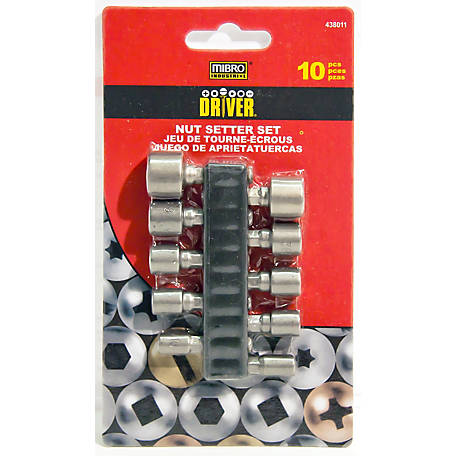 Mibro 10 pc. Non-Magnetic Nut Setter Set, 438011