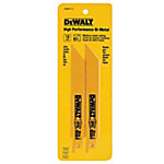 DeWALT 18 TPI Straight Back Bi-Metal Reciprocating Blade, 6 in.