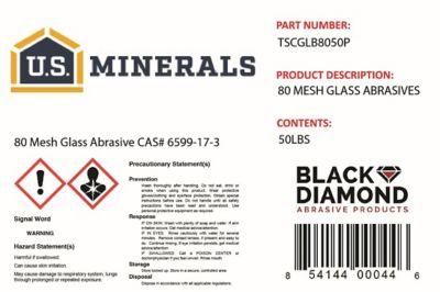 U.S. Minerals Glass Abrasive