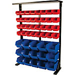 Performance Tool Metal Storage Rack w/ Plastic Bins