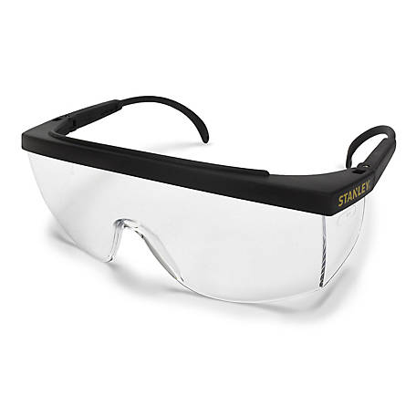 Stanley A200 Series Safety Eyewear, Black Frame, Clear Lens