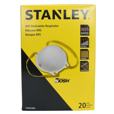 At 20 Of Pack Tractor Respirator N95 Disposable Stanley Saf-t-fit