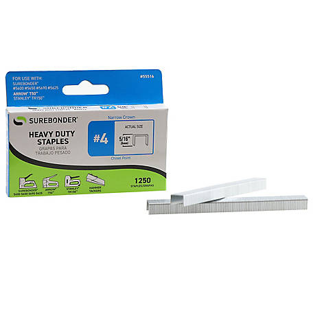 Surebonder Heavy Duty 5/16 in. Length, .417 in. Crown, 20G Staple, 1250 ct.