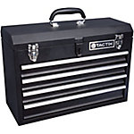 Tactix 4 Drawer Steel Portable Tool Chest, 20-1/2 in. L, Black