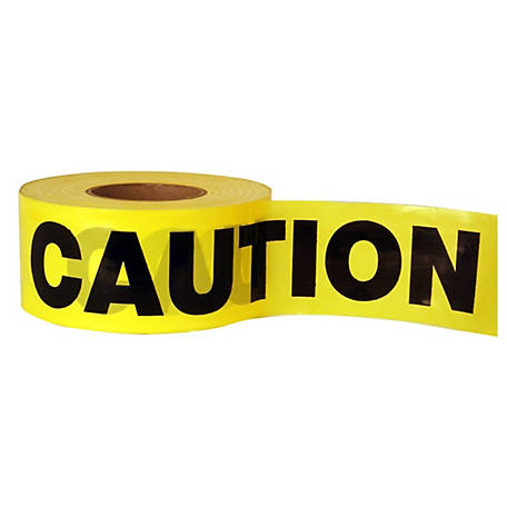 C.H. Hanson 1.5 mil. Economy Grade Yellow Caution Barricade Tape, 3 in. x 1,000 ft.