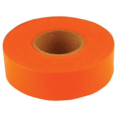 C.H. Hanson Orange Fluorescent Flagging Tape, 1-3/16 in. x 150 ft.