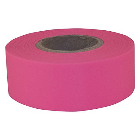 C.H. Hanson Pink Fluorescent Flagging Tape, 1-3/16 in. x 150 ft.