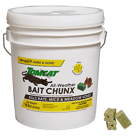 Tomcat All-Weather Bait Chunx, 18 lb. Pail of 1 oz. Chunx, 32448