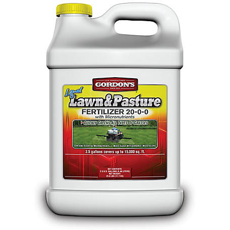 Gordon's Liquid Lawn and Pasture Fertilizer 20-0-0 with Micronutrients, 7471122