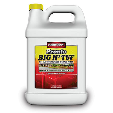Gordon's Pronto Big N' Tuf Weed & Grass Killer Concentrate, 41% Glyphosate, 1 gal., 9561077