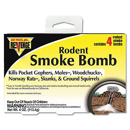 Revenge 4-Pack Rodent Smoke Bombs, 61110
