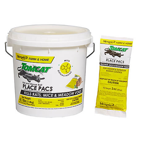 Tomcat Rat and Mouse Place Pacs, 22 pc. Pail, 3 oz. each, 32360