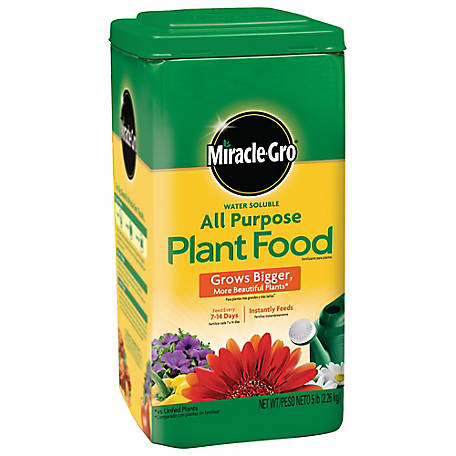 Miracle-Gro Water Soluble All Purpose Plant Food 5 lb, 1001233