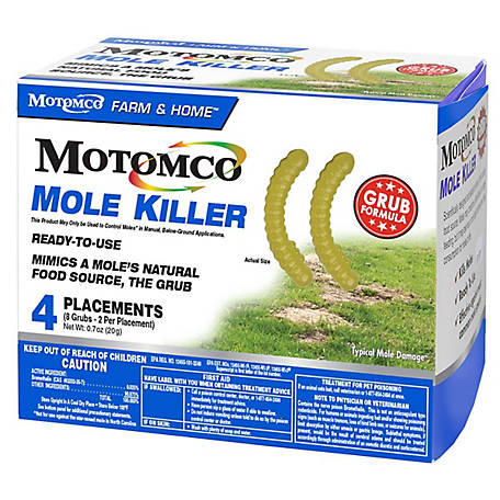 Motomco Mole Killer, Grub, Pack of 4, 34360