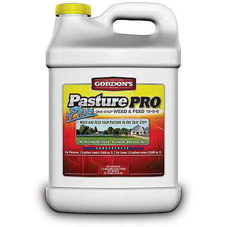 Gordon's Pasture Pro Plus One-Step Weed & Feed Concentrate, 15-0-0, 2.5 gal., 7171122