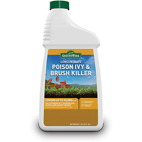 GroundWork Poison Ivy & Brush Killer Concentrate, 32 oz., 8791227