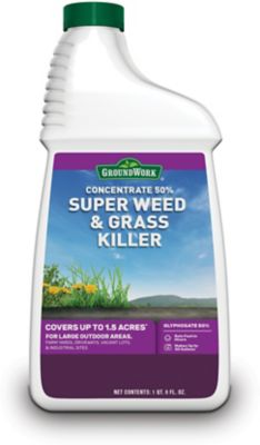 GroundWork Super Weed & Grass Killer Concentrate, 50% Glyphosate, 40 oz., 9501417