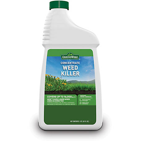 GroundWork Weed Killer Concentrate, 32 oz., 8091227