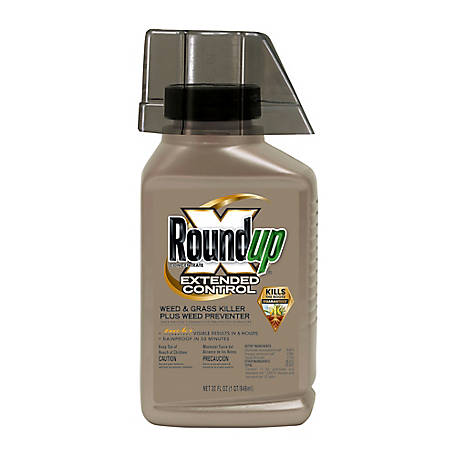 Roundup Concentrate Extended Control Weed & Grass Killer Plus Weed Preventer II, 32 oz., 5705010